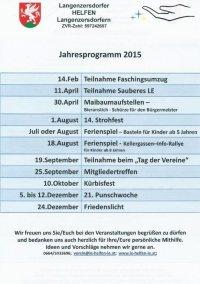 2015 Jahresprogramm